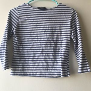 Brandy Melville Blue Striped Crop Top sz One Size